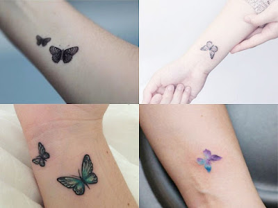Small butterfly tattoos on the wrist for women