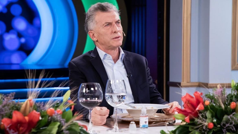 Mauricio Macri con Juana Viale