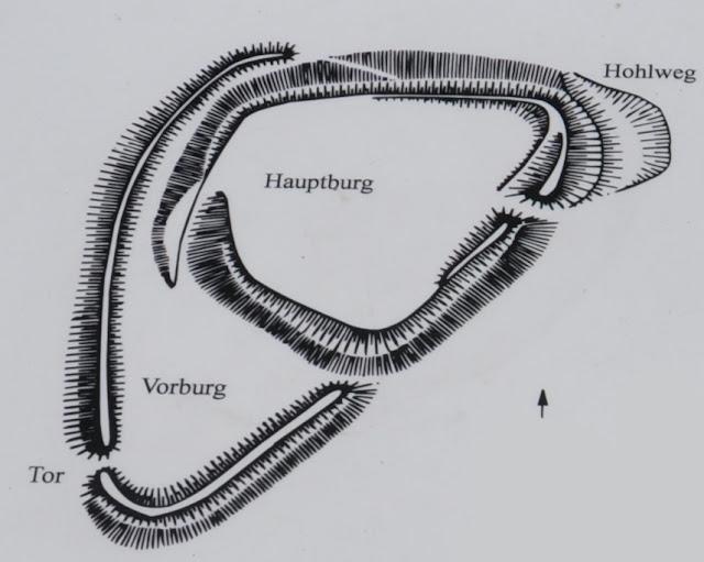 Berrgen auf Rugen - grodzisko wczesnośredniowieczne- tzw. Rugard - rycina