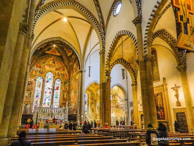 Nave principal da Basílica de Santa Maria Novella, Florença