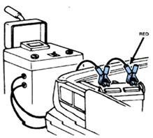توصيل جهاز الشحن والبطارية مثبته في مكانها