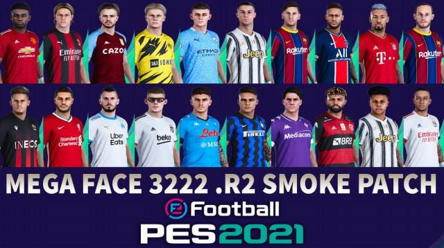 PES 2021 Smoke Patch Mega Facepack R2