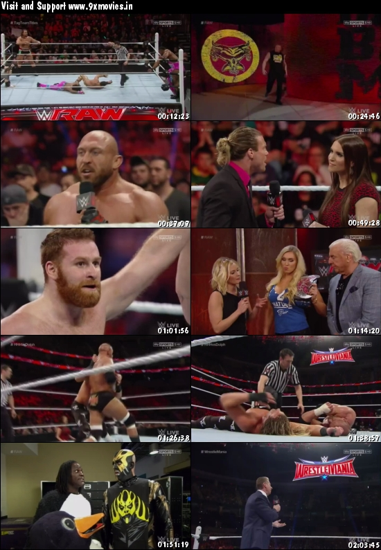 WWE Monday Night Raw 14 March 2016 HDTV 480p