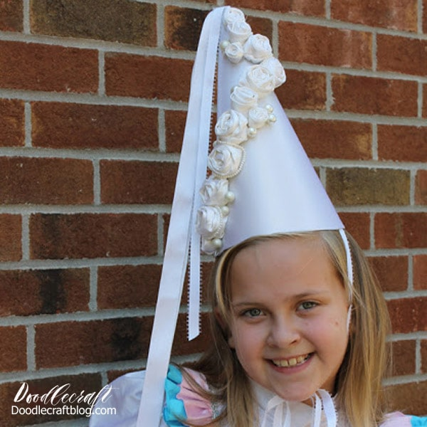 Make a princess hennin or pointy hat for the perfect princess dress up party.