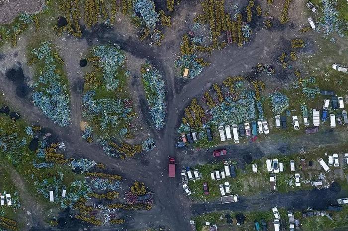 Amazing giant bicycle cemeteries
