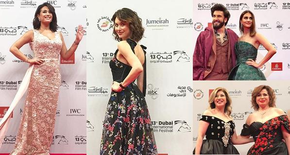 بالصور.. أجمل وأسوأ إطلالات النجمات بمهرجان دبي السينمائي