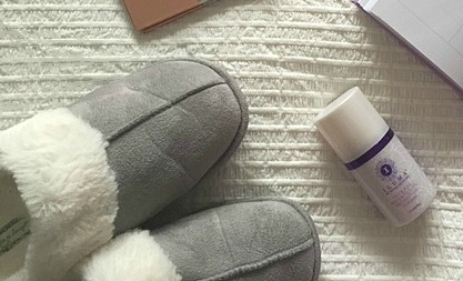 Primark Grey and White Memory Foam Slippers