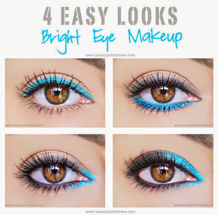 4 Easy Eye Makeup Looks Using Bright Colors
