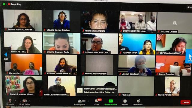 Participa Conavim en reunión nacional de la red de Mujeres Constructoras de Paz
