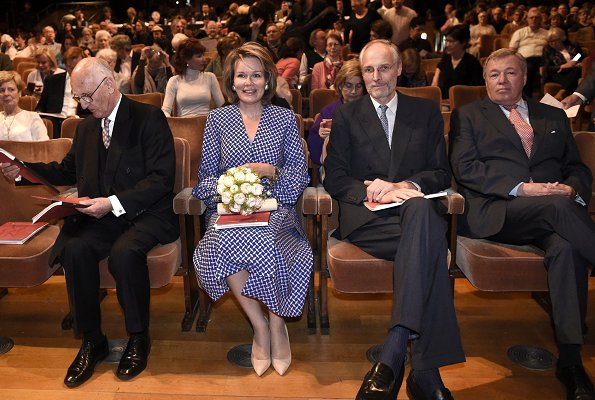 Queen Mathilde attended the first session of the first round of 2019 Queen Elisabeth Violin Competition at Flagey