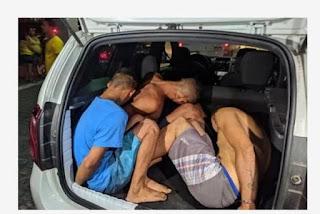 Trio é espancado pela população após assaltar turista em João Pessoa