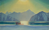 Sunglare: Alaska by Rockwell Kent - Landscape Paintings from Hermitage Museum