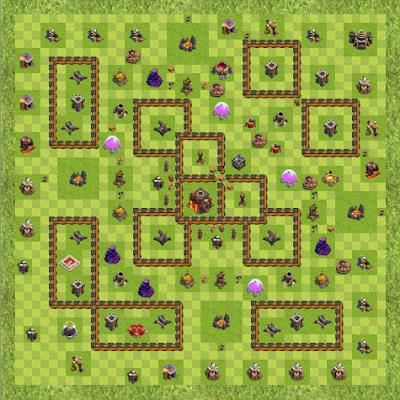 War Base Town Hall Level 10 By samdagon (Plaza TH 10 Layout)