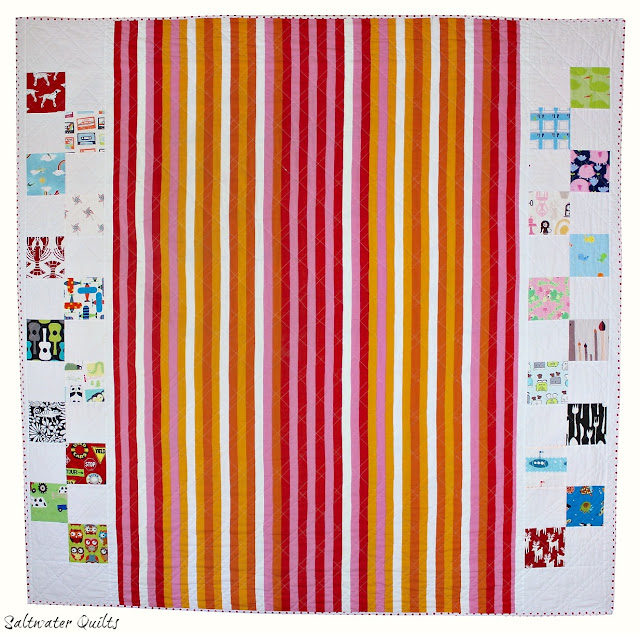 I Spy Quilt Back | Half Square Triangles | © Saltwater Quilts 2012