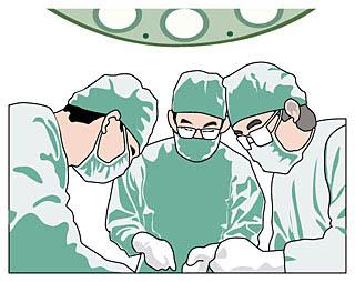 手術中のイラスト