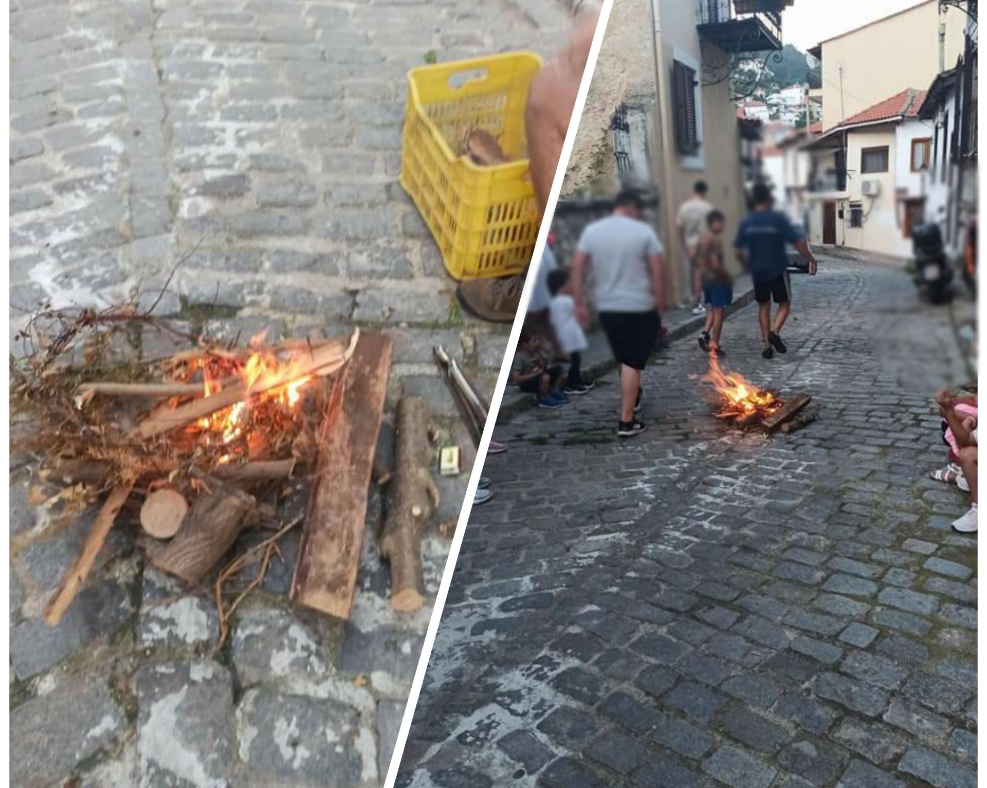 Ξάνθη: Άναψαν φωτιές για το έθιμο του Άη Γιάννη του Κλήδονα