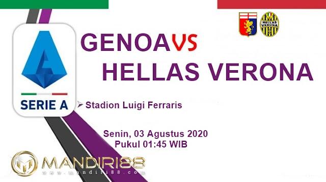 Prediksi Genoa Vs Hellas Verona, Senin 03 Agustus 2020 Pukul 01.45 WIB