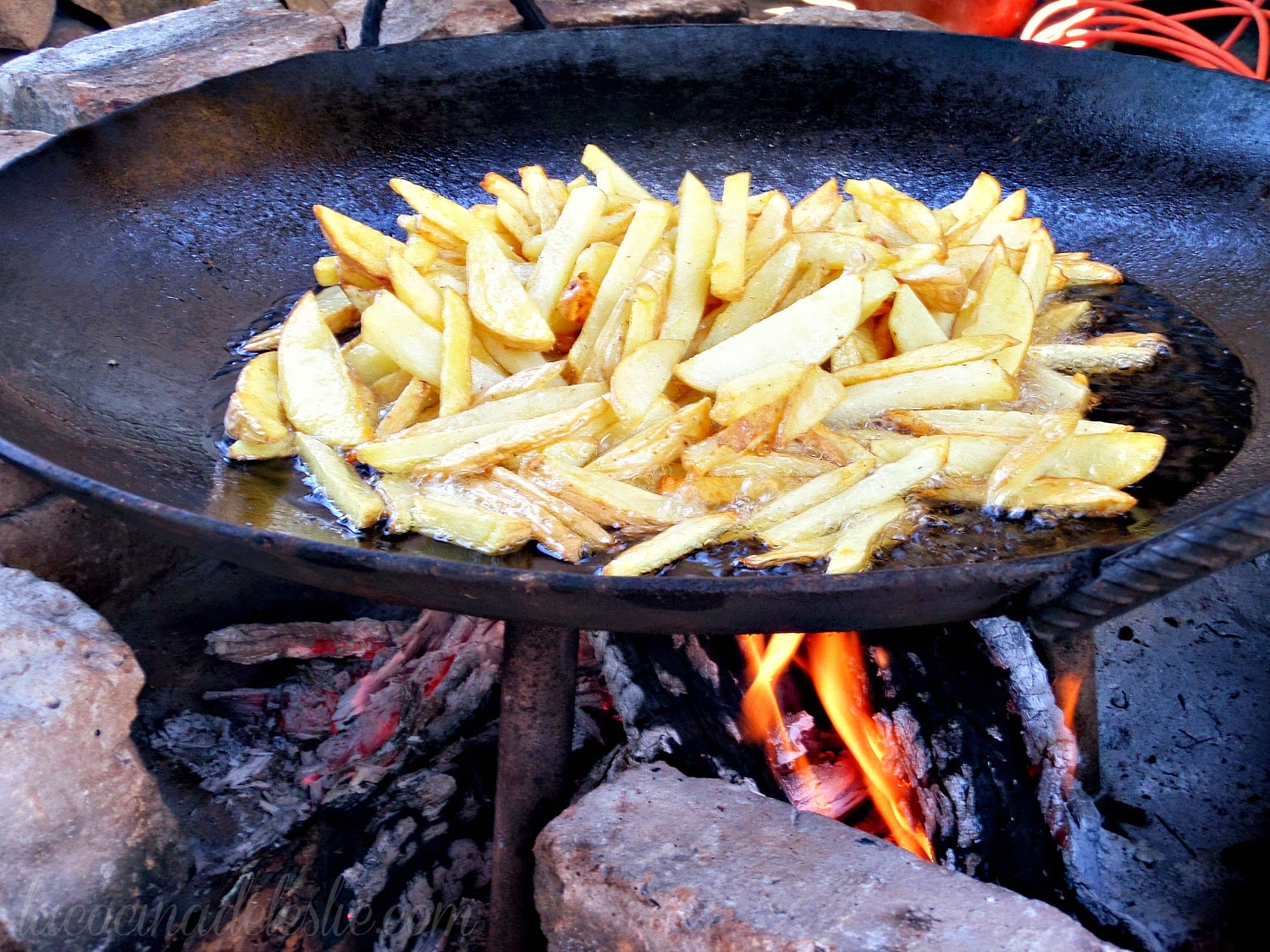 Campfire French Fries - lacocinadeleslie.com