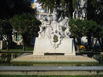 Queen Victoria statue in Menton France Travel