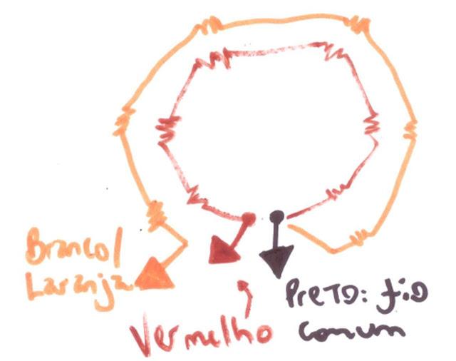bobina fio comum motor elétrico monofásico