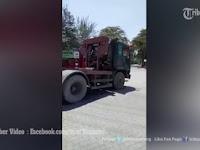 Video Detik-detik 2 Polisi Terlindas Roda Truk Kontainer, Untung Gak Mati
