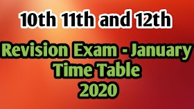 REVISION EXAM TIME TABLE – JANUARY 2020