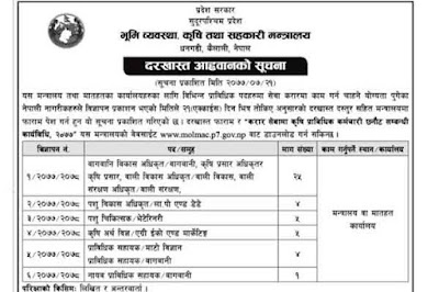Sudurpaschim Pradesh Vacancy - Province 7