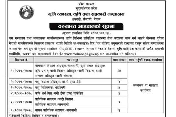 Sudurpaschim Pradesh Vacancy - Province 7