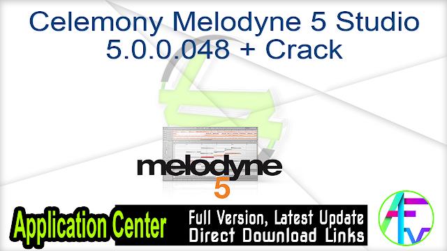 Celemony Melodyne 5 Studio 5.0.0.048 + Crack