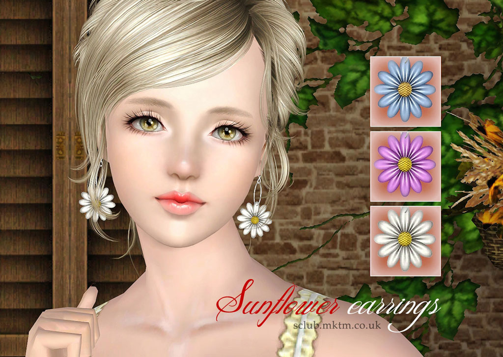 sims 3 earrings my sims 3 sunflower earrings ring by s club 1091