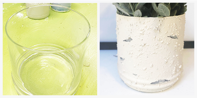 before and after of glass vase