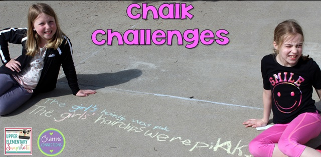 Review grammar rules with chalk challenges! Check out this grammar activity plus four more engaging grammar games for upper elementary students! This blog post contains FREEBIES, too!