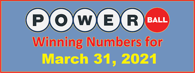 PowerBall Winning Numbers for Wednesday, March 31, 2021