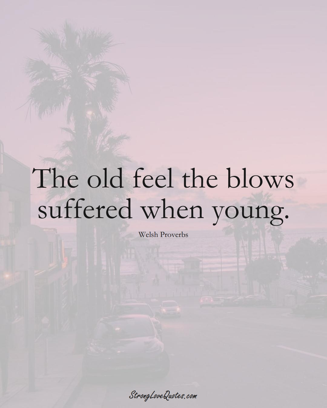 The old feel the blows suffered when young. (Welsh Sayings);  #EuropeanSayings