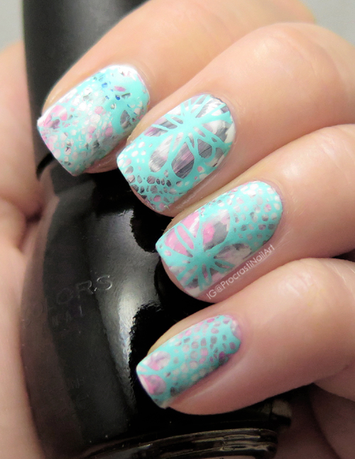 Nail Art // Matte Pastel Stamping with Nicole Diary, Sinful Colors ...