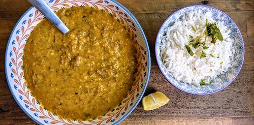 Haleem with white basmati