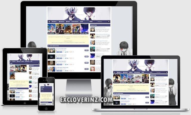 Template Blogger Tokyo Ghoul V2