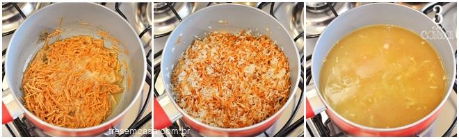 arroz com macarrão