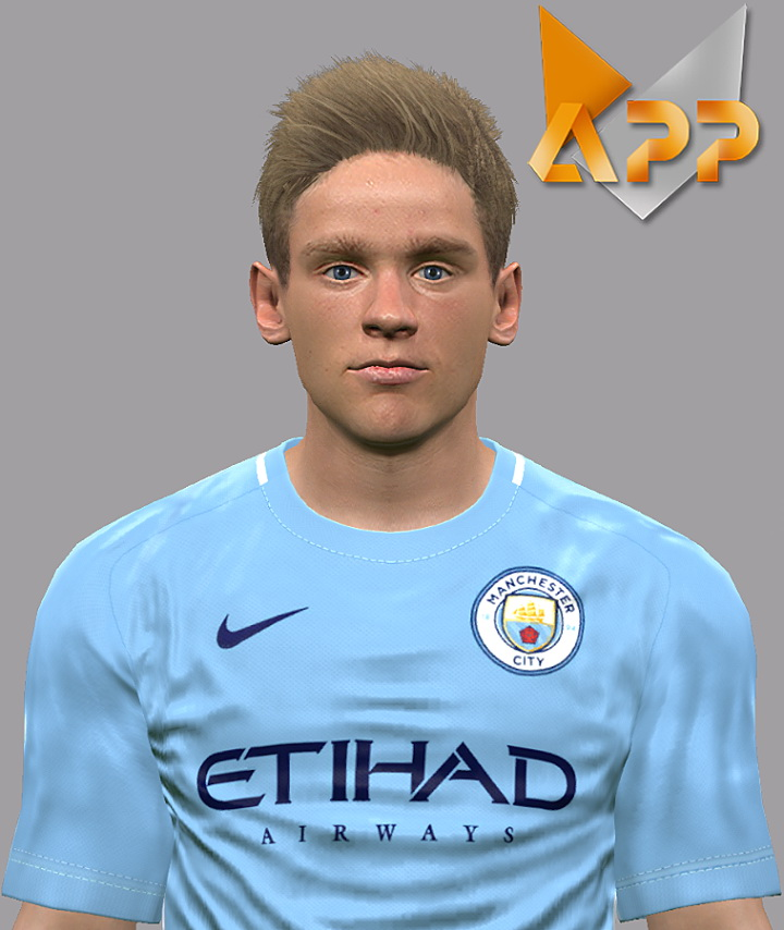 PES 2017 Oleksandr Zinchenko (Manchester City) Face by Litos Facemaker