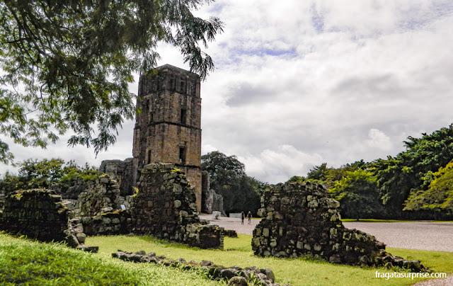 Torre da Catedral de Panamá Viejo, primeira capital do Panamá
