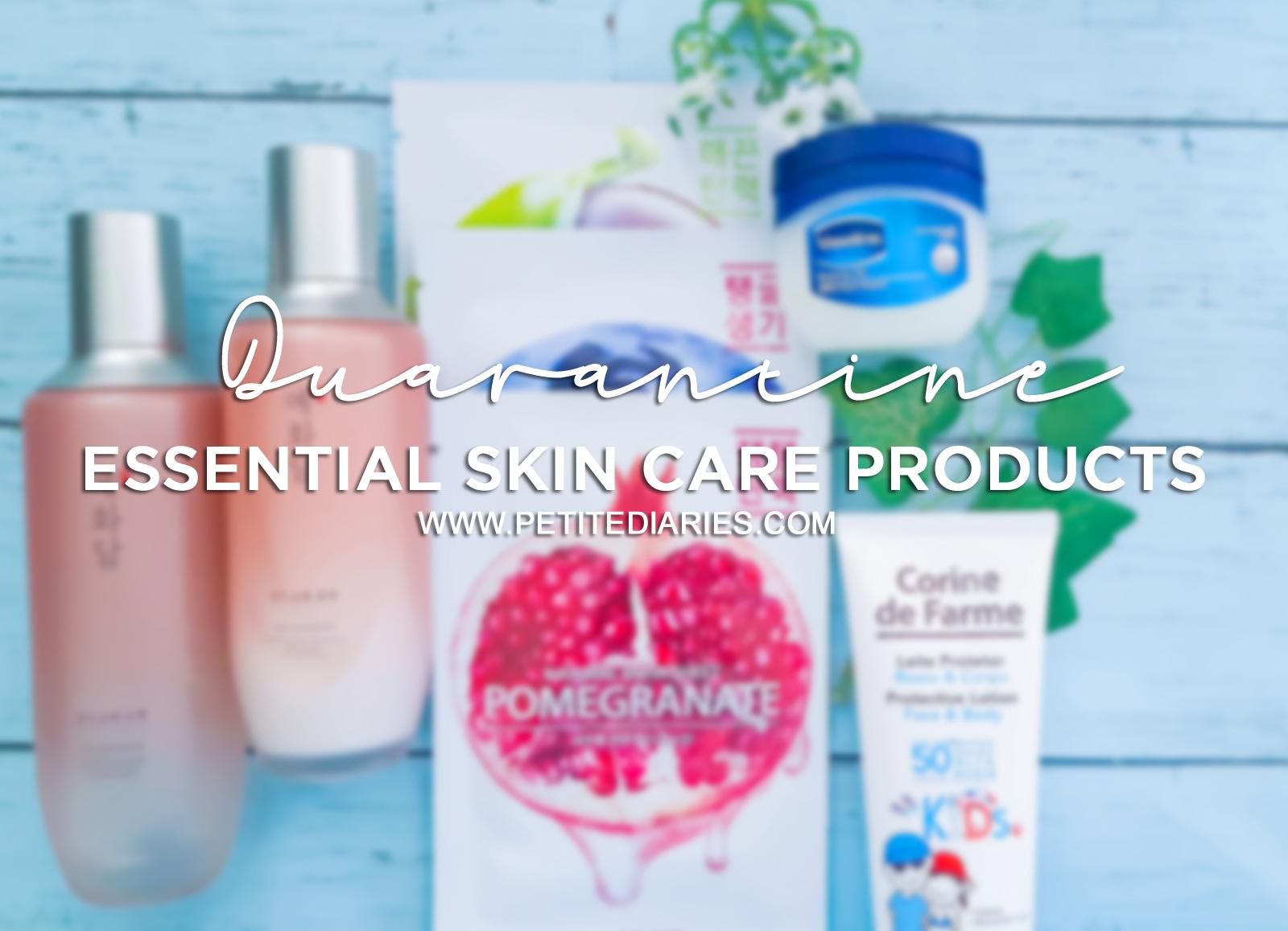 essential skincare product for quarantine
