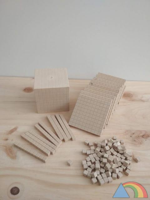 Material multibase o base 10 en madera