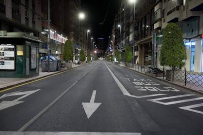 Calles vacias a partir de las 0 horas