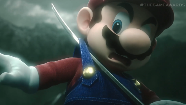 Super Smash Bros. Ultimate Sephiroth cutscene Mario sword masamune overalls