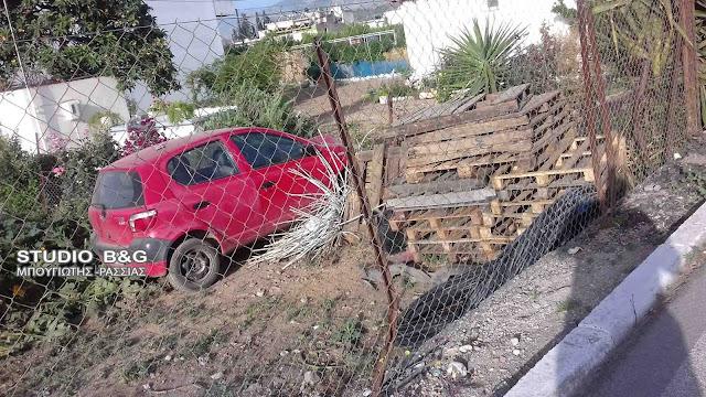Εκτροπή αυτοκινήτου στο Άργος