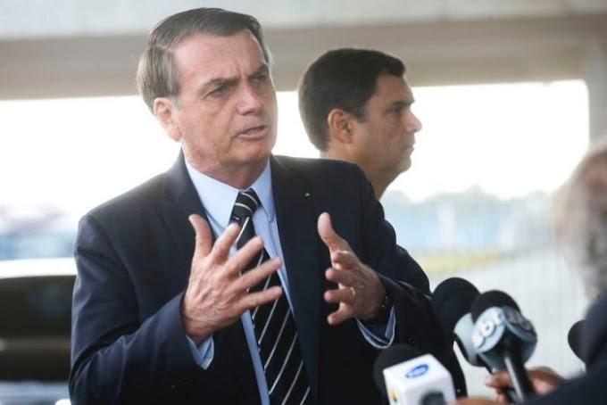 """""""Democracia e liberdade acima de tudo"""", diz Bolsonaro depois de protestos nesse domingo"""
