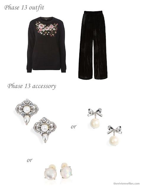 adding festive earrings to a 4 by 4 Wardrobe