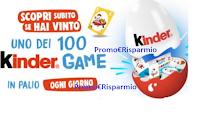 """""""Kinder Game"""" : vinci ogni giorno 100 Grande Uovo con kit 12 giochi ( 2500 premi in tutto)"""