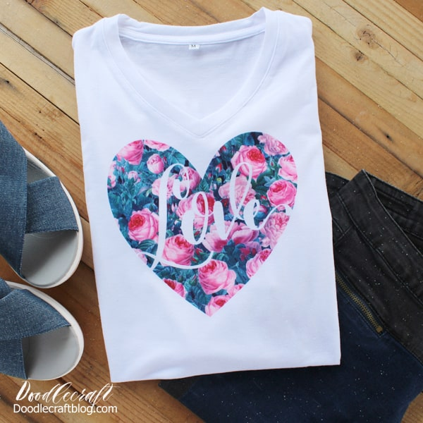 Cricut Infusible Ink Valentine Love Heart Shirt DIY!   Cricut Infusible Ink is magic! It's the perfect way to make a shirt without any screen printing, iron-on or texture. Seriously, this product just bonds with the shirt and leaves the most professional finish!