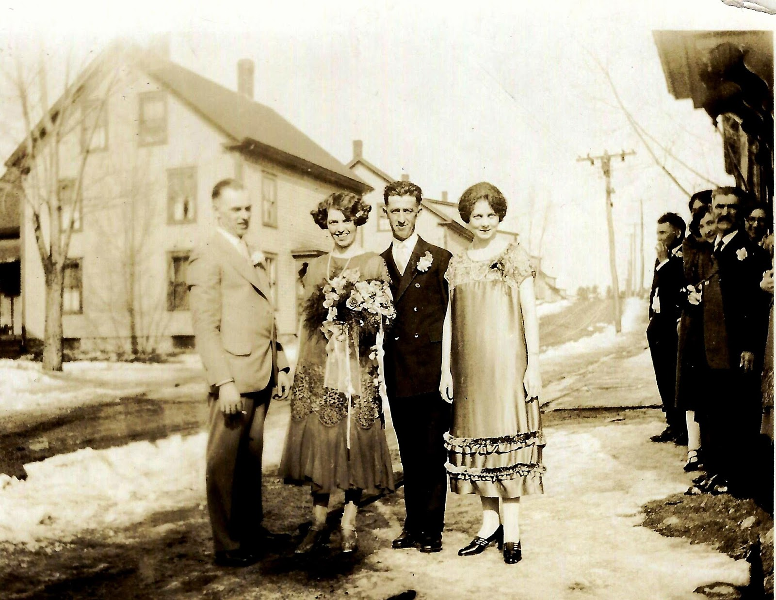 SilkDamask : A 1925 Flapper-Style Wedding Dress; Worn in New Hampshire
